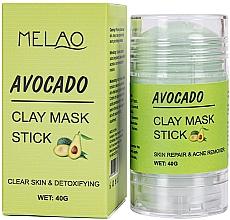 Düfte, Parfümerie und Kosmetik Reinigende und entgiftende Gesichtsmaske in Stick mit Avocado - Melao Avocado Clay Mask Stick