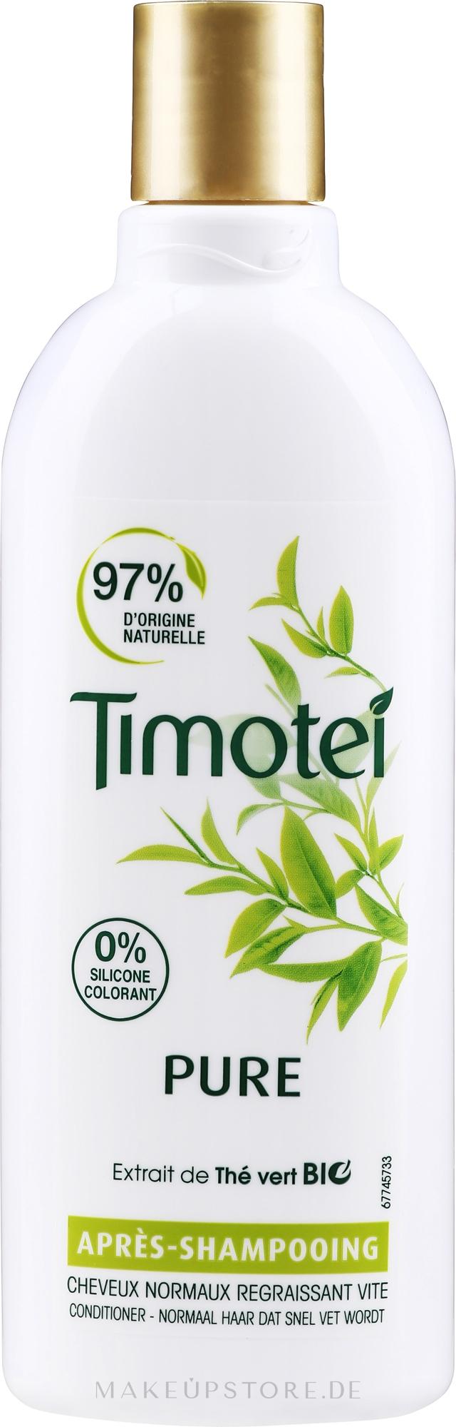 Haarspülung für normales bis fettiges Haar mit Bio Grüntee-Extrakt - Timotei Pure Conditioner — Bild 300 ml