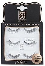 """Düfte, Parfümerie und Kosmetik Set Künstliche Wimpern """"Katie"""" - Sosu by SJ Makeup Artist Multipack Eyelashes"""