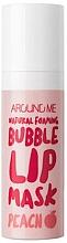 Düfte, Parfümerie und Kosmetik Lippenmaske - Welcos Natural Foaming Bubble Lip Mask Peach