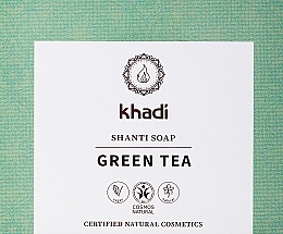 Düfte, Parfümerie und Kosmetik Naturseife mit grünem Tee und Minze - Khadi Green Tea Shanti Soap