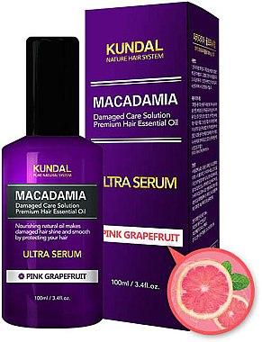 Ultra Serum für Haare Rosa Grapefruit - Kundal Macadamia Pink Grapefruit Ultra Serum — Bild N1