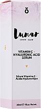 Düfte, Parfümerie und Kosmetik Gesichtsserum mit Hyaluronsäure und Vitamin C - Lunar Glow Vitamin C Hyaluronic Acid Serum