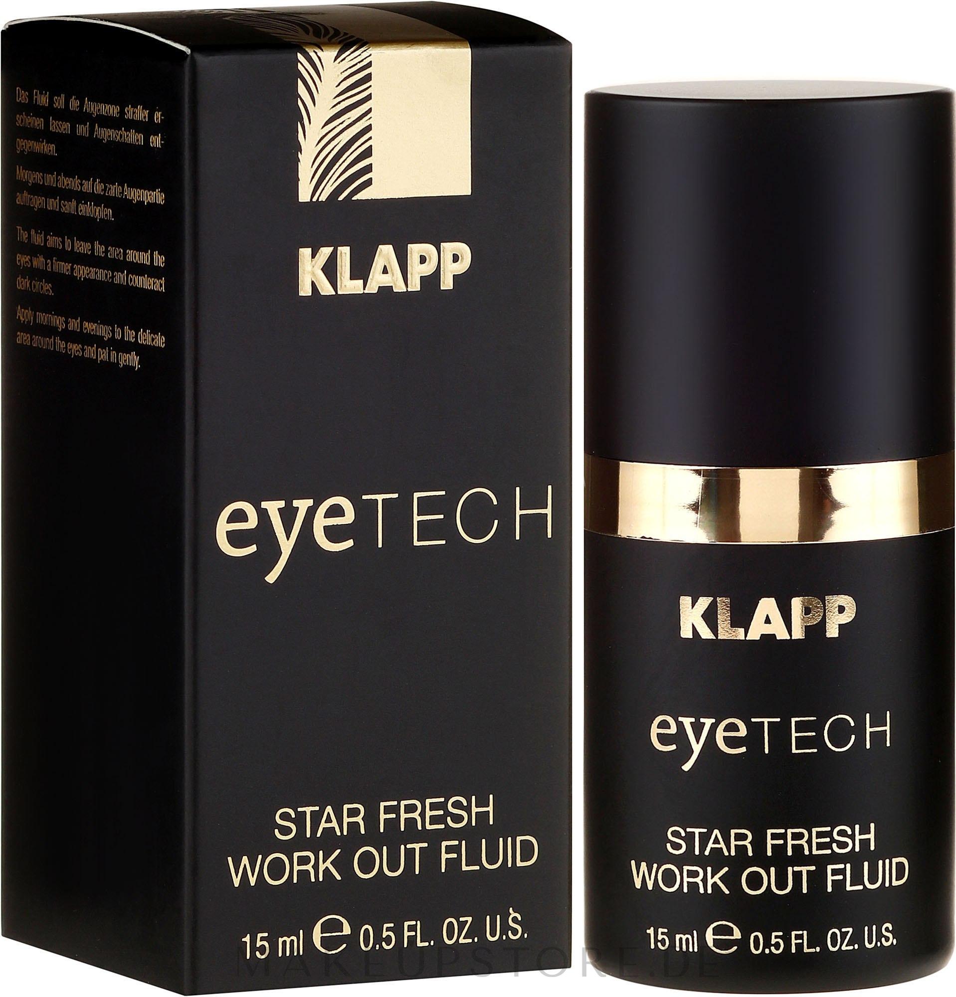 Straffendes Fluid für den Augenbereich gegen dunkle Schatten und Schwellungen - Klapp Eyetech Star Fresh Work Out Fluid — Bild 15 ml
