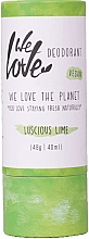 Düfte, Parfümerie und Kosmetik Natürliche Deo-Creme Luscious Lime - We Love The Planet Deodorant Luscious Lime