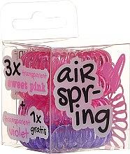 Haargummis rosa + lila 4 St. - Hair Springs — Bild N1