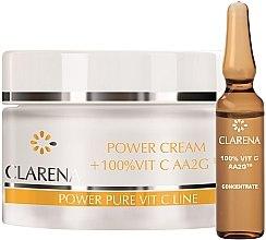 Düfte, Parfümerie und Kosmetik Gesichtscreme mit 100% Vitamin C und Seidenextrakt - Clarena Power Cream 100% Vit C Aa2g