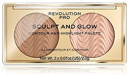 Düfte, Parfümerie und Kosmetik Konturier- und Highlighter-Palette - Makeup Revolution Pro Sculpt And Glow