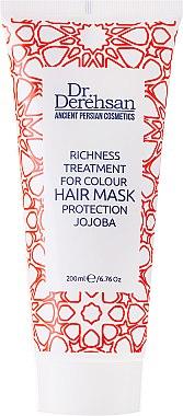 Regenerierende und schützende Maske für coloriertes Haar mit mit Jojobaöl - Hristina Cosmetics Dr. Derehsan Color Protection Hair Mask — Bild N1