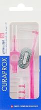 Düfte, Parfümerie und Kosmetik Interdentalbürsten-Set mit 2 Halter Prime Start CPS 08S rosa - Curaprox