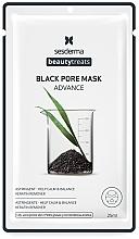 Düfte, Parfümerie und Kosmetik Schwarze Anti-Mitesser Tuchmaske für fettige und zu Akne neigende Haut - SesDerma Laboratories Beauty Treats Black Pore Mask