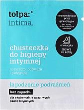 Düfte, Parfümerie und Kosmetik Beruhigende und erfrischende Intim-Pflegetücher gegen irritierte Haut - Tolpa Intima