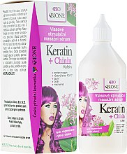 Düfte, Parfümerie und Kosmetik Haarserum - Bione Cosmetics Keratin + Quinine Stimulating Massaging Hair Serum