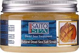 Düfte, Parfümerie und Kosmetik Salzpeeling für den Körper mit exotischem Mangoduft - Saito Spa Mango Dead Sea Salt Body Scrub