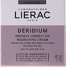 Düfte, Parfümerie und Kosmetik Anti-Falten nährende Gesichtscreme - Lierac Paris Deridium Wrinkle Correction Nourishing Cream