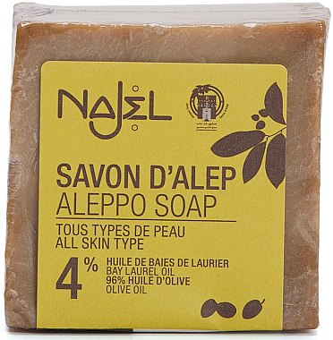 Aleppo-Seife mit 4% Lorbeeröl - Najel Aleppo Soap 4% Bay Laurel Oil — Bild N1