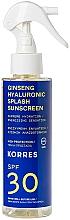 Düfte, Parfümerie und Kosmetik Feuchtigkeitsspendendes und energetisierendes Sonnenschutzspray mit Hyaluronsäure und Ginsengextrakt SPF 30 - Korres Ginseng & Hyaluronic Splash Sunscreen SPF30