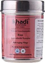 Düfte, Parfümerie und Kosmetik Anti-Aging Gesichtsmaske für trockene, gereizte und reife Haut mit Rosenblätter - Khadi Rose Herbal Face Mask