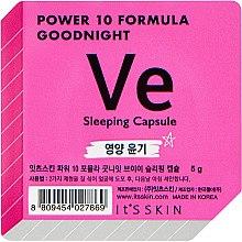 Düfte, Parfümerie und Kosmetik Schlafmaske für das Gesicht in einer Power-Kapsel mit Vitamin E - It's Skin Power 10 Formula Goodnight Sleeping Capsule VE