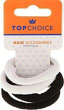 Düfte, Parfümerie und Kosmetik Haargummis schwarz-weiß 4 St. - Top Choice