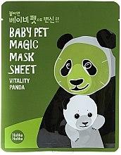 Düfte, Parfümerie und Kosmetik Aufhellende und stärkende Tuchmaske - Holika Holika Baby Pet Magic Mask Sheet Vitality Panda
