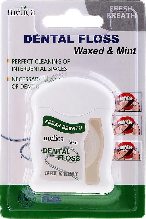 Zahnseide mit Minzgeschmack - Melica Organic Dental Floss Waxed & Mint — Bild N1