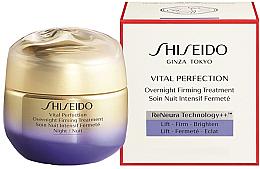 Düfte, Parfümerie und Kosmetik Reichhaltige revitalisierende und straffende Anti-Aging Nachtcreme gegen Falten und Pigmentflecken - Shiseido Vital Perfection Overnight Firming Treatment