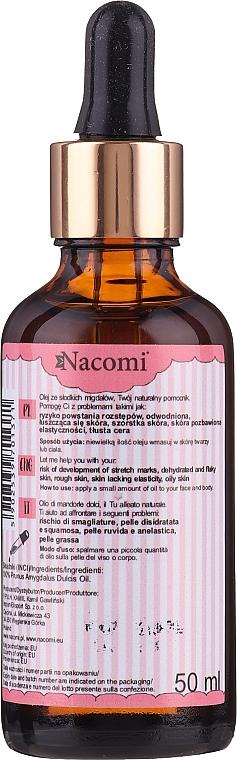 Süßmandelöl für den Körper - Nacomi Sweet Almond Oil — Bild N2