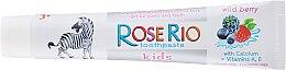 Fluoridfreie Kinderzahnpasta 3+ Jahre mit Himbeergeschmack - Rose Rio Kids Toothpast — Bild N2