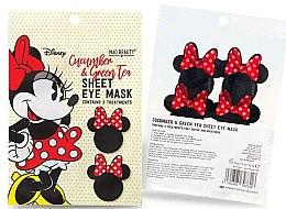 Düfte, Parfümerie und Kosmetik Tuchmaske für die Augenpartie mit Gurke und grünem Tee - Mad Beauty Disney Minnie Mouse Sheet Eye Mask