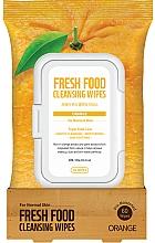Düfte, Parfümerie und Kosmetik Gesichtsreinigungstücher mit Orangenduft - Superfood For Skin Fresh Food Facial Cleansing Wipes