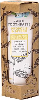 Natürliche Zahnpasta mit Propolis und Myrte - The Natural Family Co Propolis & Myyrh Toothpaste — Bild N1