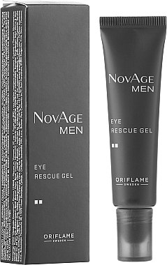 Tonisierendes Augenkonturgel - Oriflame NovAge Men Eye Rescue Gel — Bild N1