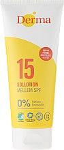 Düfte, Parfümerie und Kosmetik Sonnenschutz Lotion SPF 15 parfümfrei - Derma Sun Lotion SPF 15