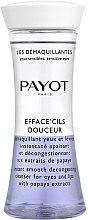 Düfte, Parfümerie und Kosmetik Zweiphasiger Make-up Entferner mit Papaya-Extrakt für Augen und Lippen - Payot Les Demaquillantes Efface Cils Douceur Instant Smooth Decongesting Cleanser