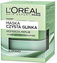 Düfte, Parfümerie und Kosmetik Reinigende und mattierende Gesichtsmaske mit 3 Tonerden und Eukalyptus-Extrakt - L'Oreal Paris Skin Expert