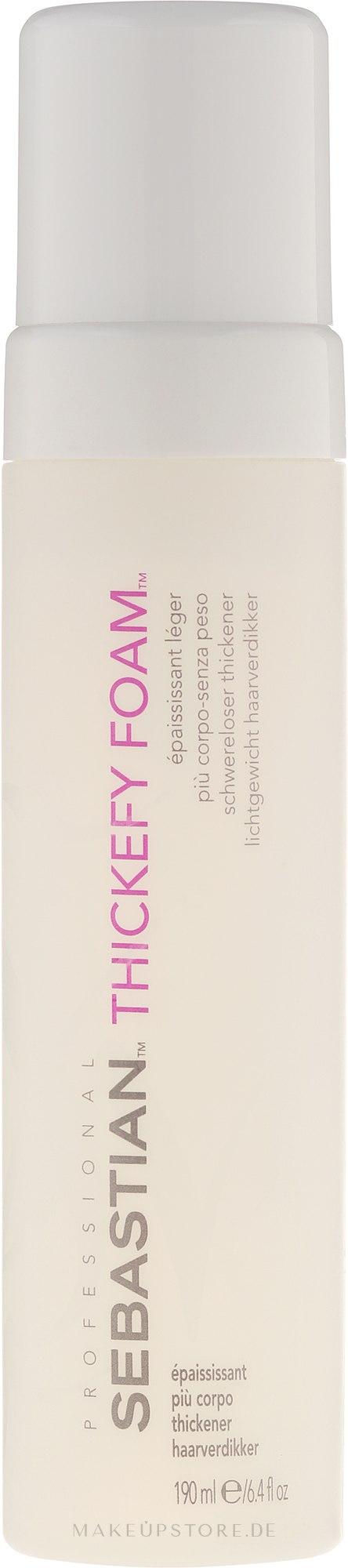 Schwereloser Volumen-Schaumfestiger für feines Haar - Sebastian Thickefy Foam — Bild 190 ml