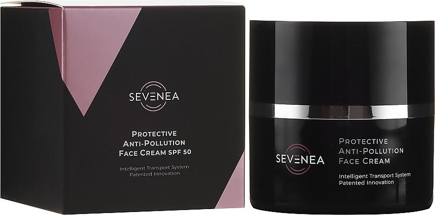 Schützende Anti-Falten Gesichtscreme mit Vitaminen SPF 50 - Sevenea Protective Anti-Pollution Face Cream SPF50 — Bild N1