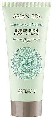 Reichhaltige Fußcreme mit Zitronengras und Matcha - Artdeco Asian Spa Super Rich Foot Cream — Bild N1