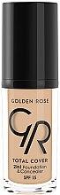 Düfte, Parfümerie und Kosmetik 2in1 Foundation & Concealer LSF 15 - Golden Rose Total Cover 2in1 Foundation & Concealer