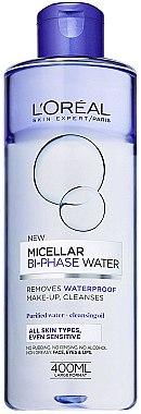 2-Phasen Mizellen-Reinigungswasser für alle Hauttypen - L'Oreal Paris Bi Phase Micellar Cleansing Water — Bild N1