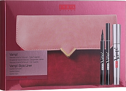 Düfte, Parfümerie und Kosmetik Make-up Set (Mascara 9ml + Eyeliner 1.5ml + Kosmetiktasche) - Pupa Vamp! Vamp! Stylo Liner