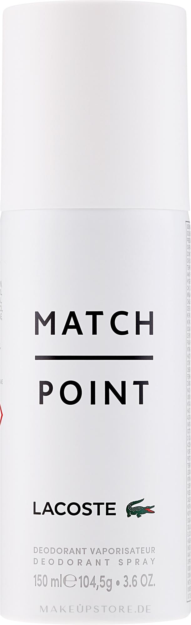 Lacoste Match Point - Deospray — Bild 150 ml