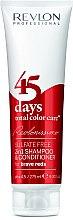 Düfte, Parfümerie und Kosmetik 2in1 Shampoo und Conditioner für rote Nuancen - Revlon Professional Revlonissimo 45 Days Brave Reds