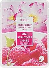 Düfte, Parfümerie und Kosmetik Aufhellende Tuchmaske mit Lotus und Himbeere - Deoproce Color Synergy Effect Sheet Mask Pink
