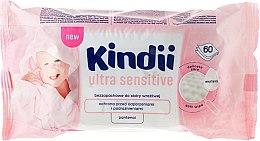 Düfte, Parfümerie und Kosmetik Baby Feuchttücher für empfindliche Haut 60 St. - Cleanic Kindii Baby Sensitive Wipes