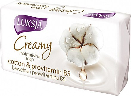 Feuchtigkeitsspendende Cremeseife mit Baumwollmilch und Provitamin B5 - Luksja Cotton Milk Provitamin B5 Soap — Bild N1