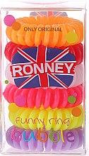 Düfte, Parfümerie und Kosmetik Haargummis Farb-Mix 6 St. №8 - Ronney Professional Funny Ring Bubble 8