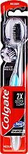 Düfte, Parfümerie und Kosmetik Zahnbürste mittel 360° Charcoal Black schwarz-blau - Colgate 360 Charcoal Black Medium