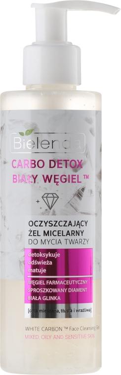 Entgiftendes und erfrischendes Mizellengel zum Abschminken mit Diamantpulver, Aktivkohle und weißem Ton - Bielenda Carbo Detox Micellar Gel — Bild N1